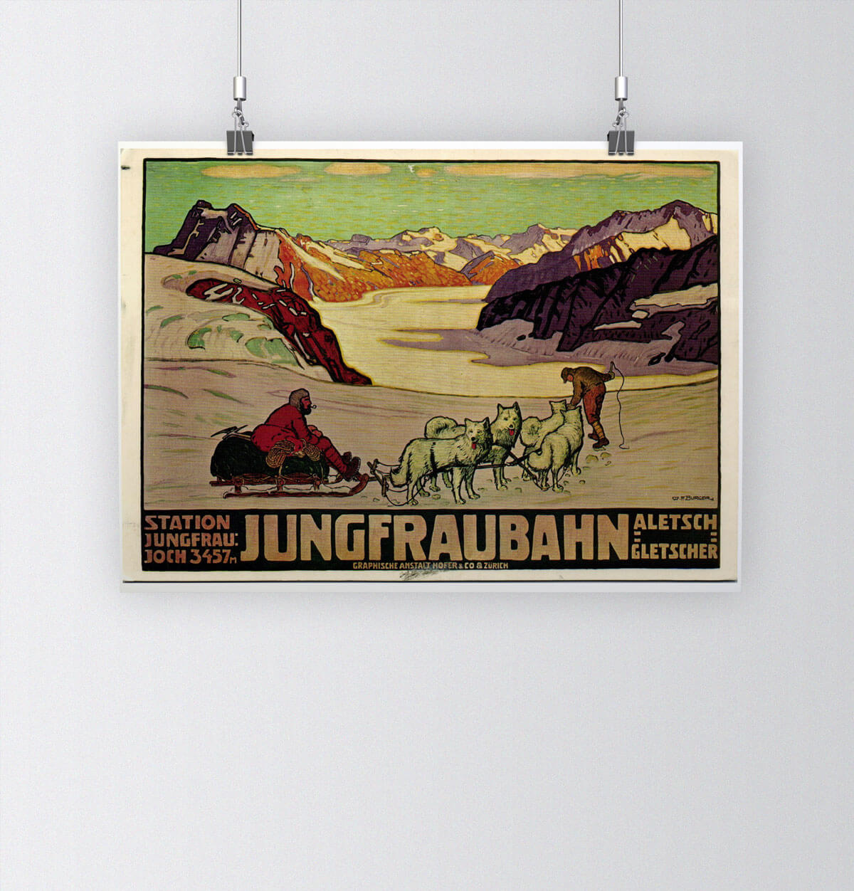 Tour of Switzerland - Vintage Posters - Jungfrau