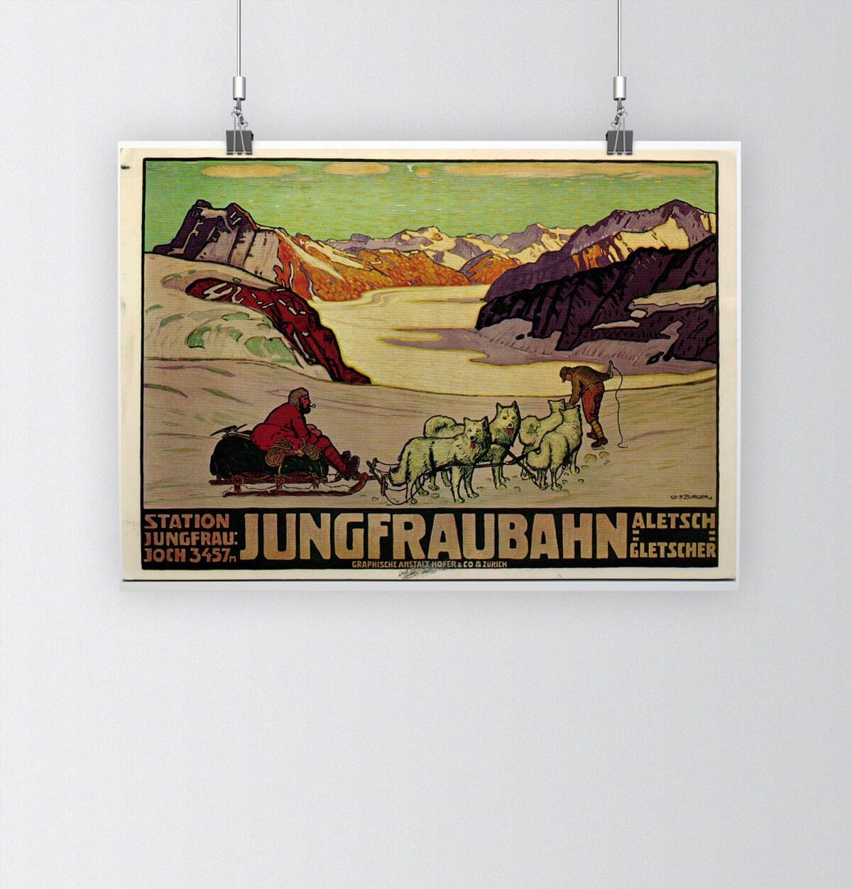 Tour of Switzerland - Vintage Posters - Jungfrau