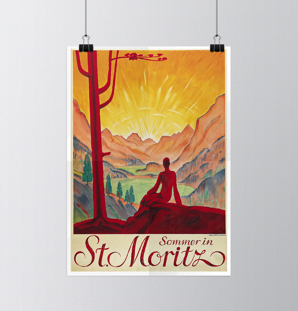 Tour of Switzerland - Vintage Posters - St. Moritz