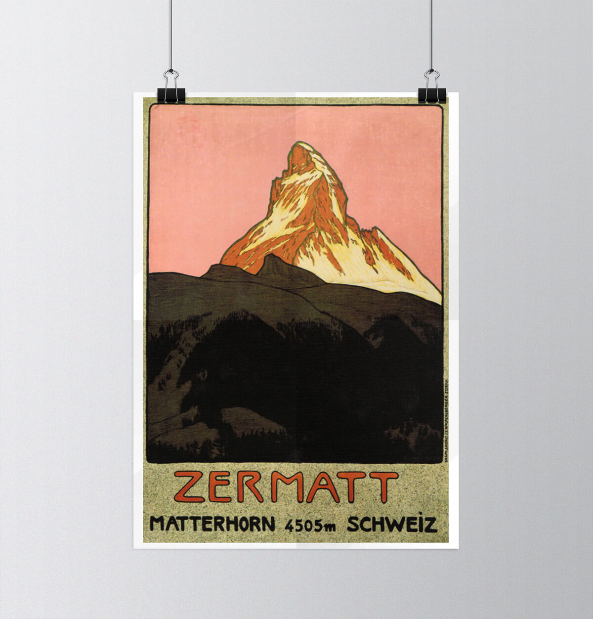 Tour of Switzerland - Vintage Posters - Zermatt