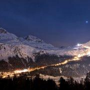 Corvatsch Snow Night