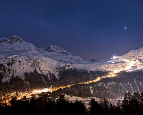 Corvatsch Snow Night