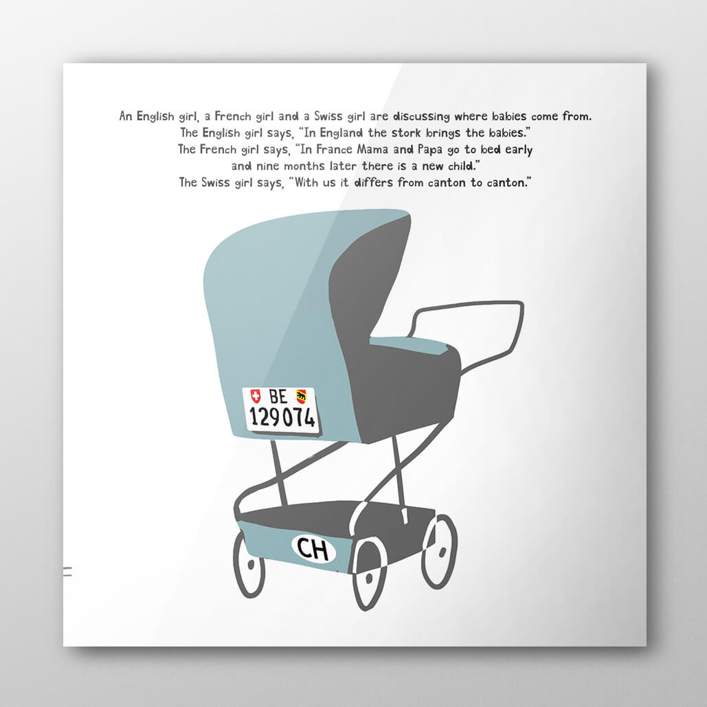 How to be Swiss by Diccon Bewes - Baby Stroller