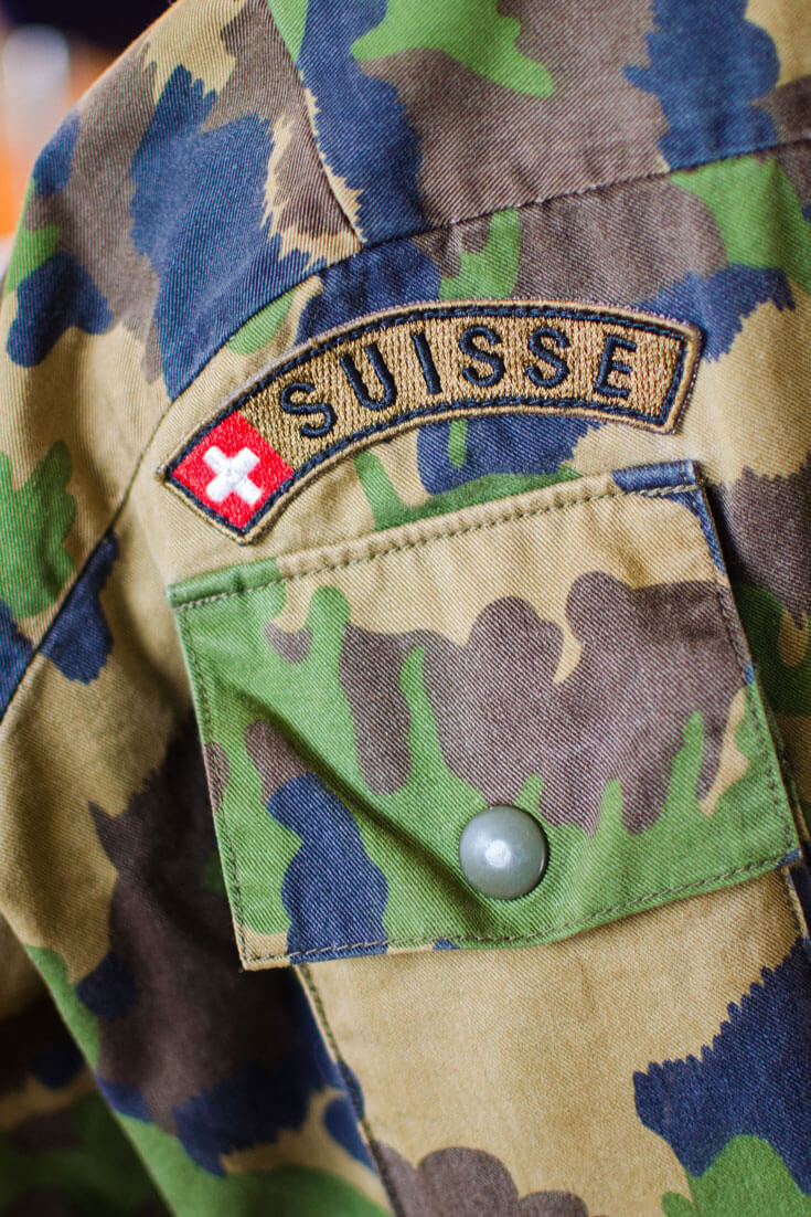 A Swiss Army jacket with the typical