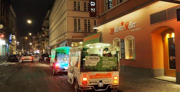Fondue eTukTuk in Zurich