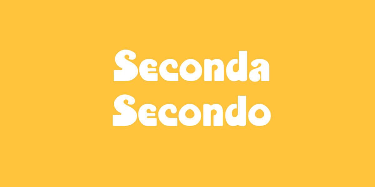 Swiss Standard German - Seconda/Secondo