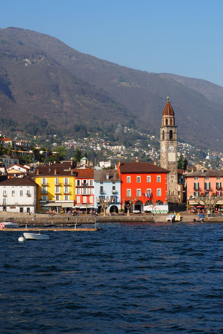 The town of Ascona in Switzerland