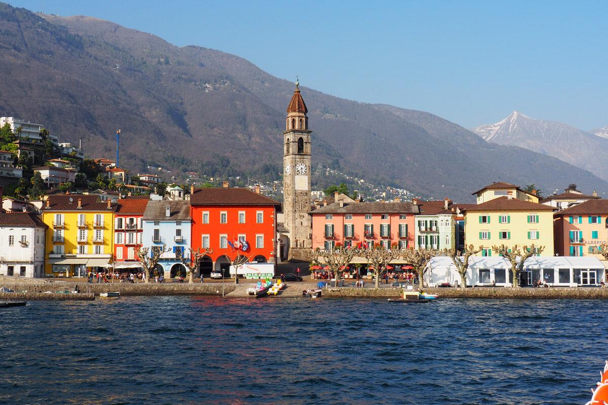 Ascona from the boat