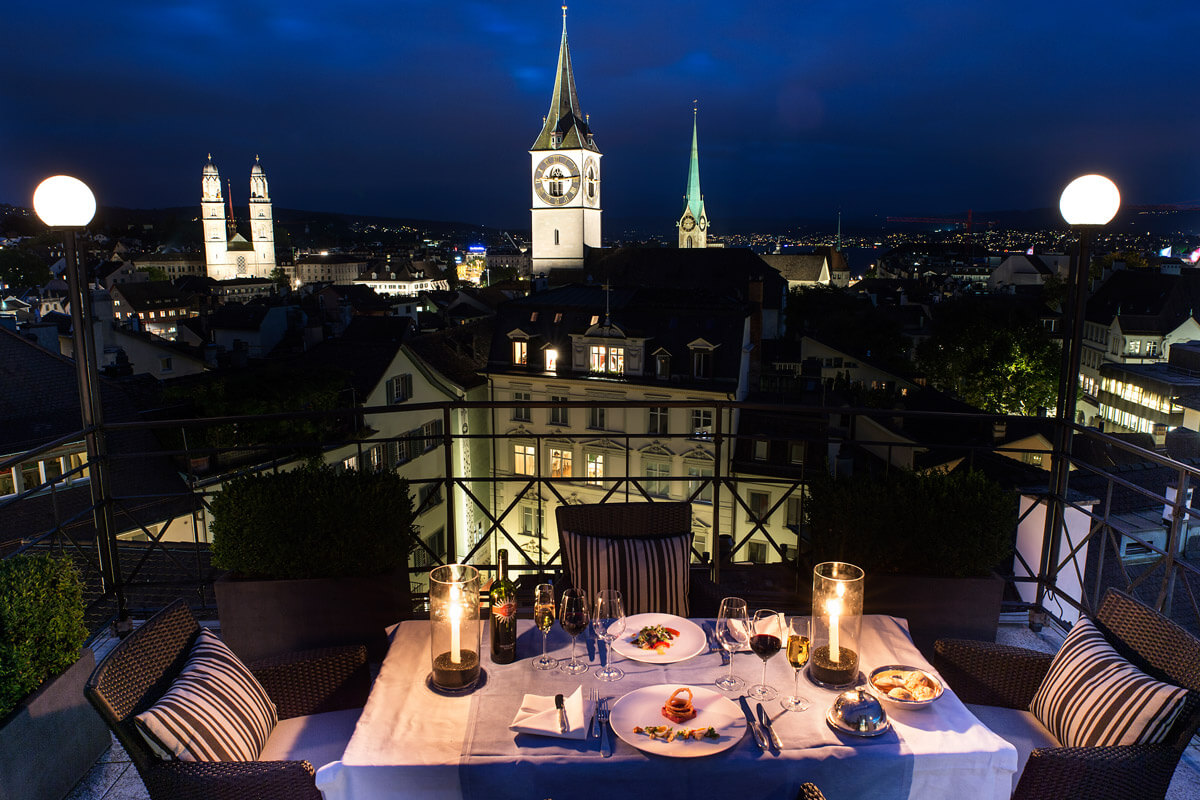 These are the best rooftop restaurants to visit in z rich for What is a hotel terrace