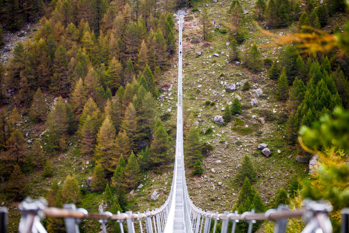 Longest Suspension Bridge in the World - Switzerland