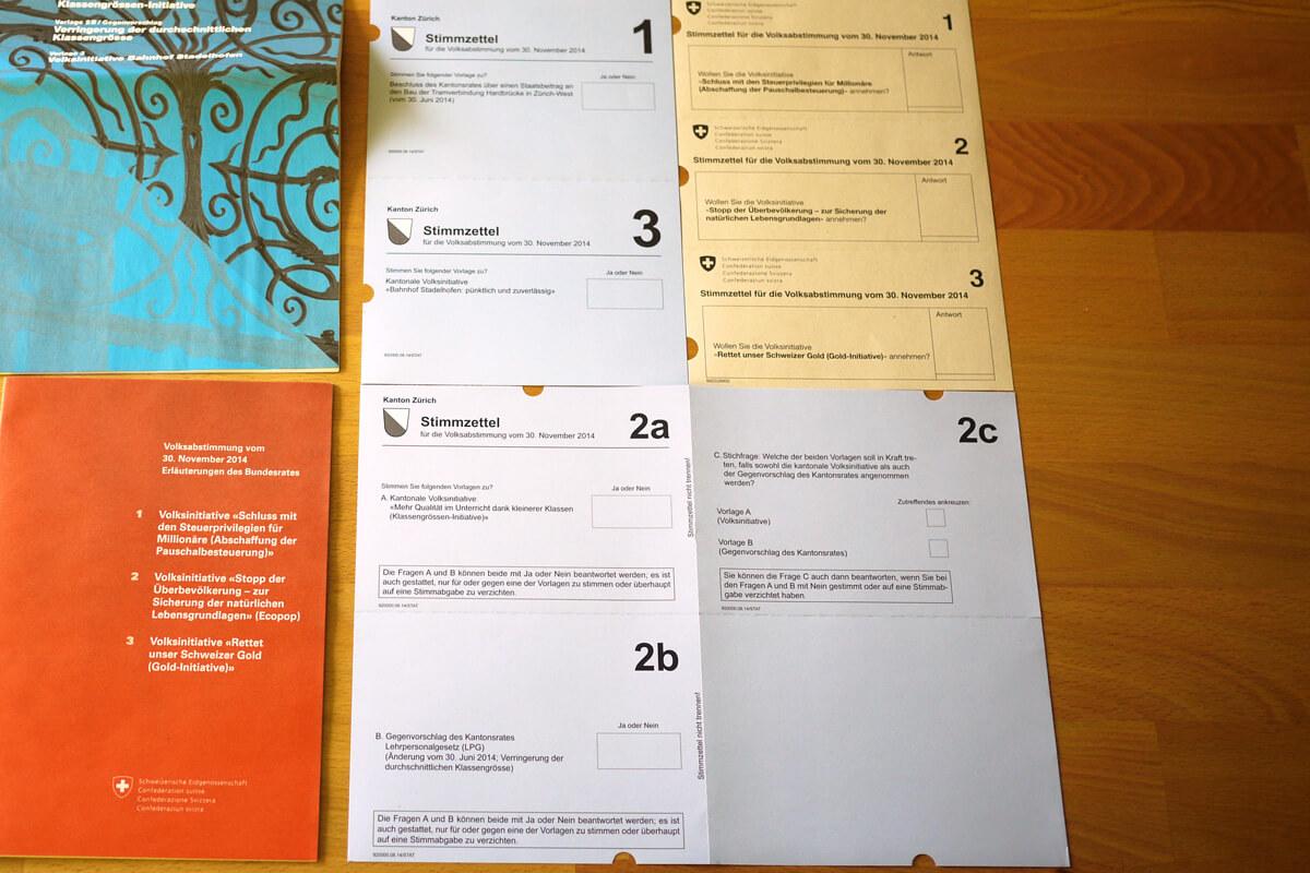Swiss Voting Ballots