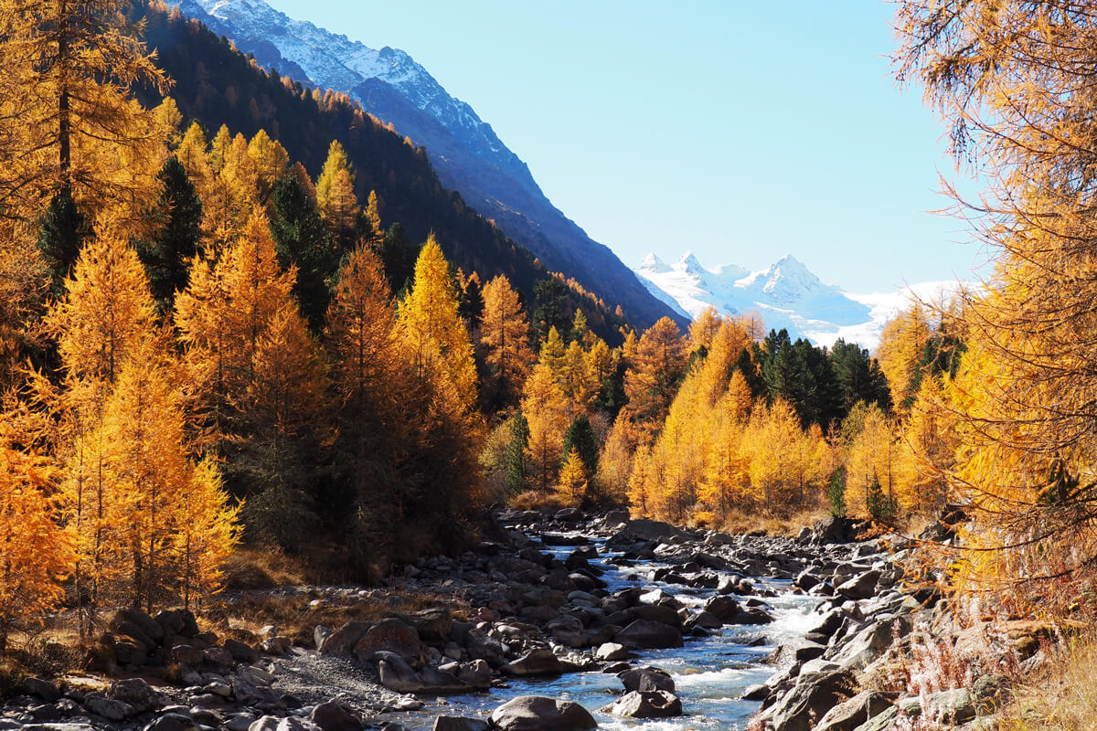 Indian Summer in Engadine, Switzerland