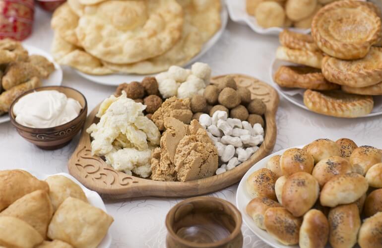 Kazakhstan Cheese Platter
