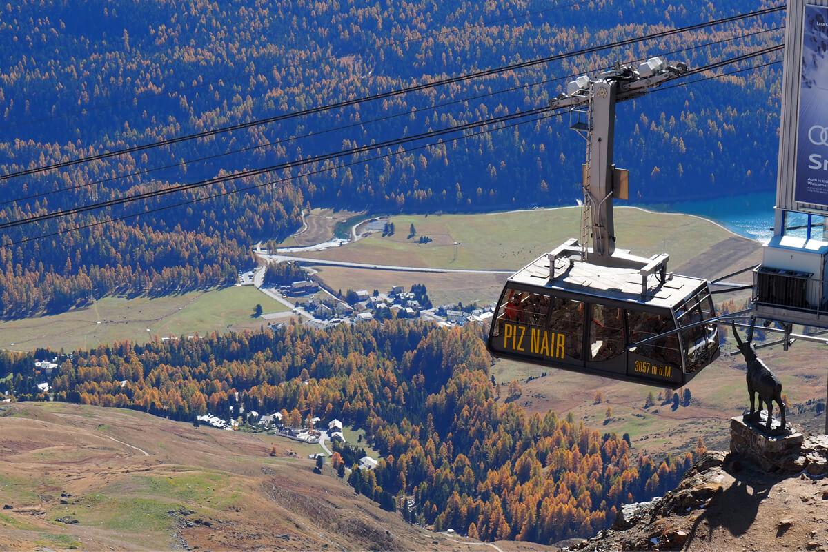 Piz Nair Mountain Cable Car