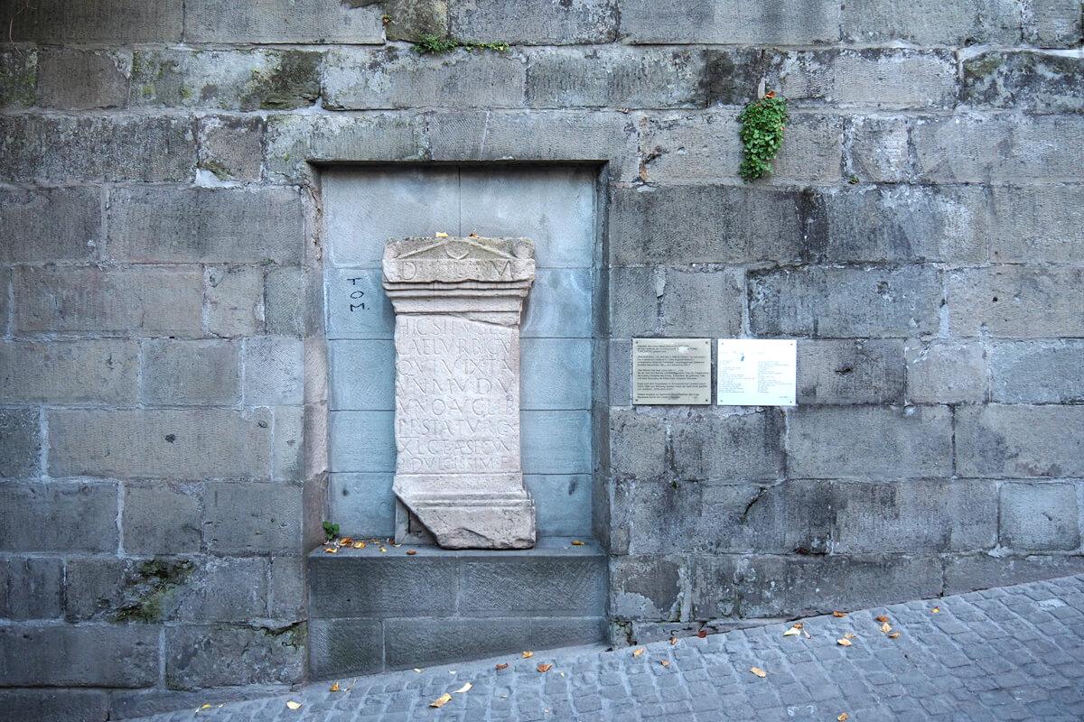 Turicum Gravestone at Lindenhof in Zurich