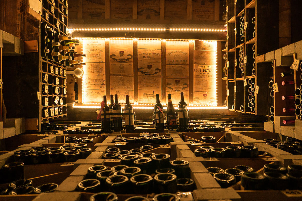 Wine Cellar at Grand Hotel Les Endroits