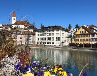 The beautiful town of Thun in Switzerland
