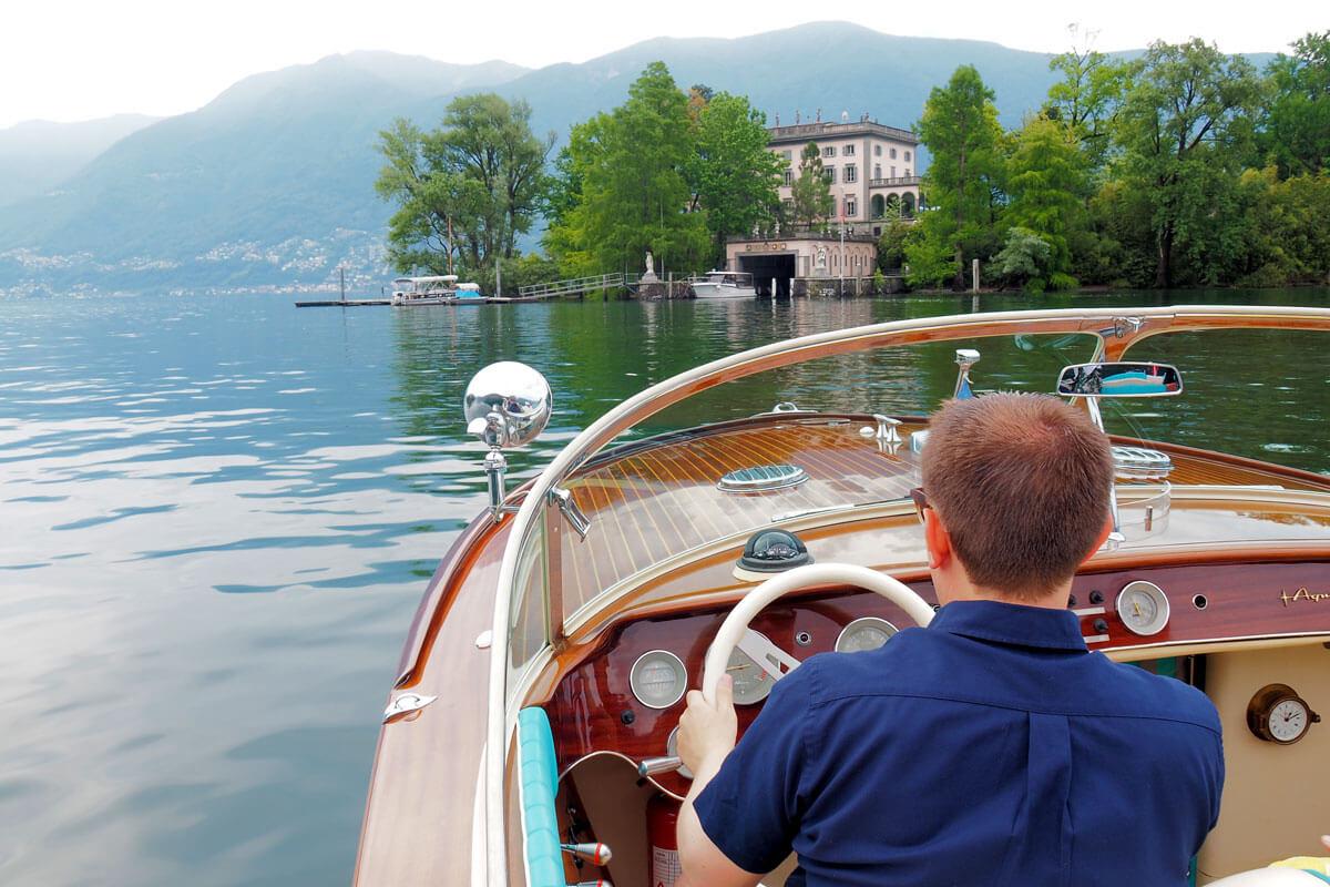 Riva Aquarama Boat by the Hotel Eden Roc Ascona