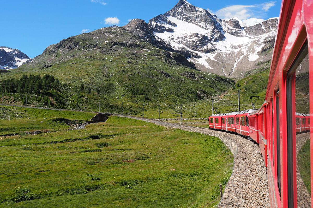 Switzerland RhB Train - Rhaetian Railways