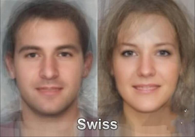 World of Average Faces - Swiss