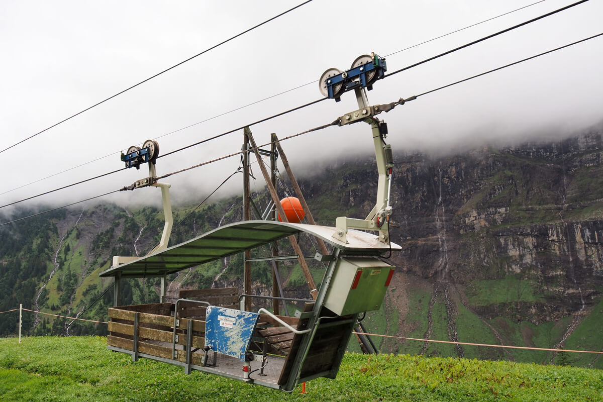 Cable Car at Musenalp in Isenthal, Switzerland