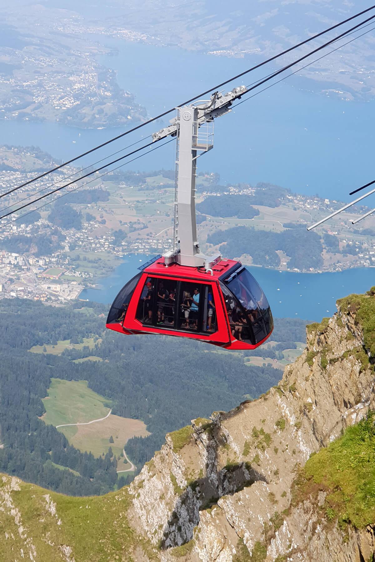 "Mount Pilatus ""Dragon Ride"" Cable Car"