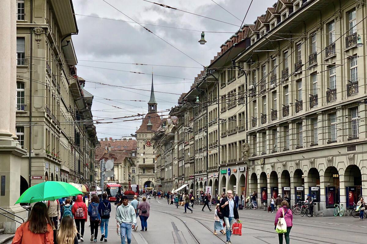 Bern Switzerland Arcade Shopping