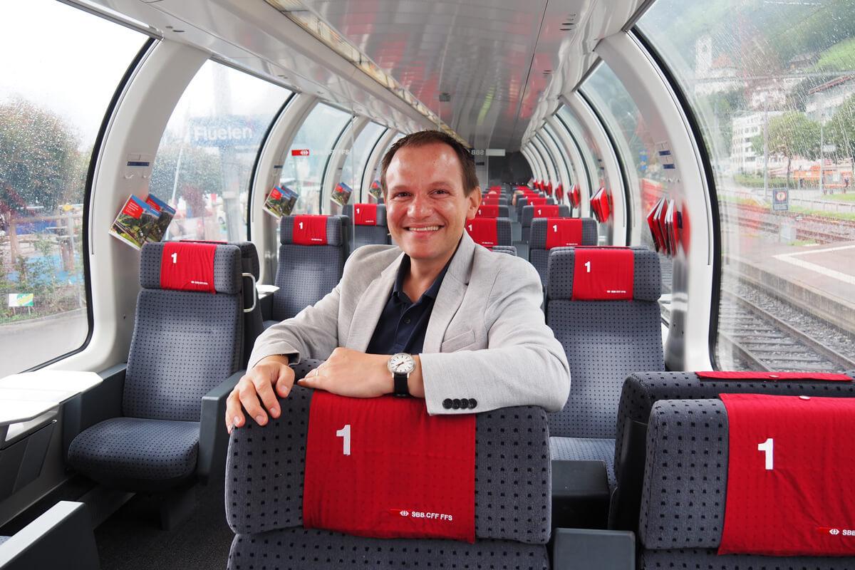 Gotthard Panorama Express train journey in Switzerland