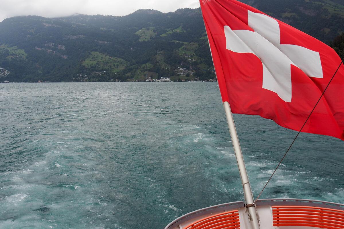 Gotthard Panorama Express on Lake Lucerne