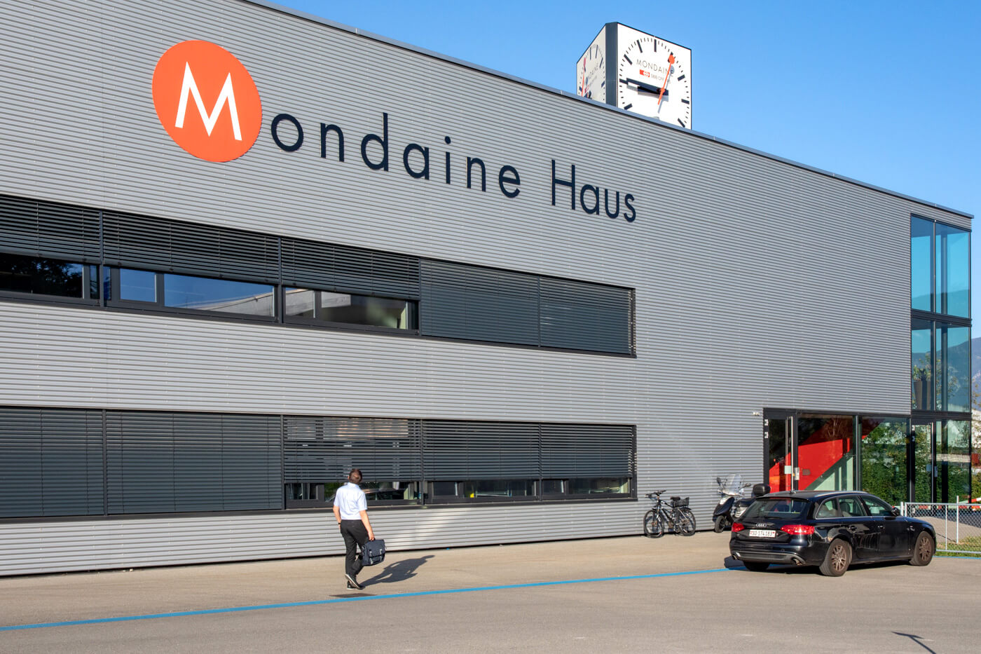 Mondaine Watch Factory in Biberist, Switzerland