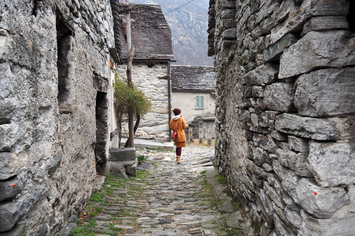 Corippo in Valle Verzasca, Switzerland