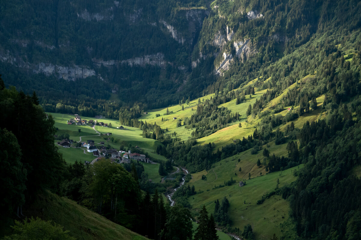 Cable Car Hiking Trail in Engelberg, Switzerland