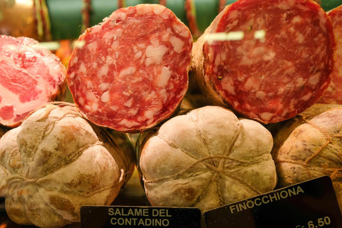 Salami in Lugano, Switzerland