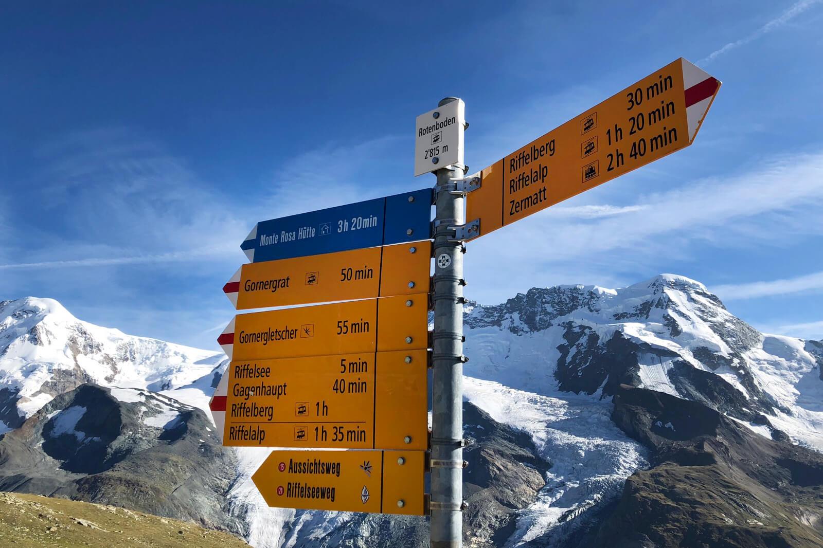 Hike in Zermatt, Switzerland