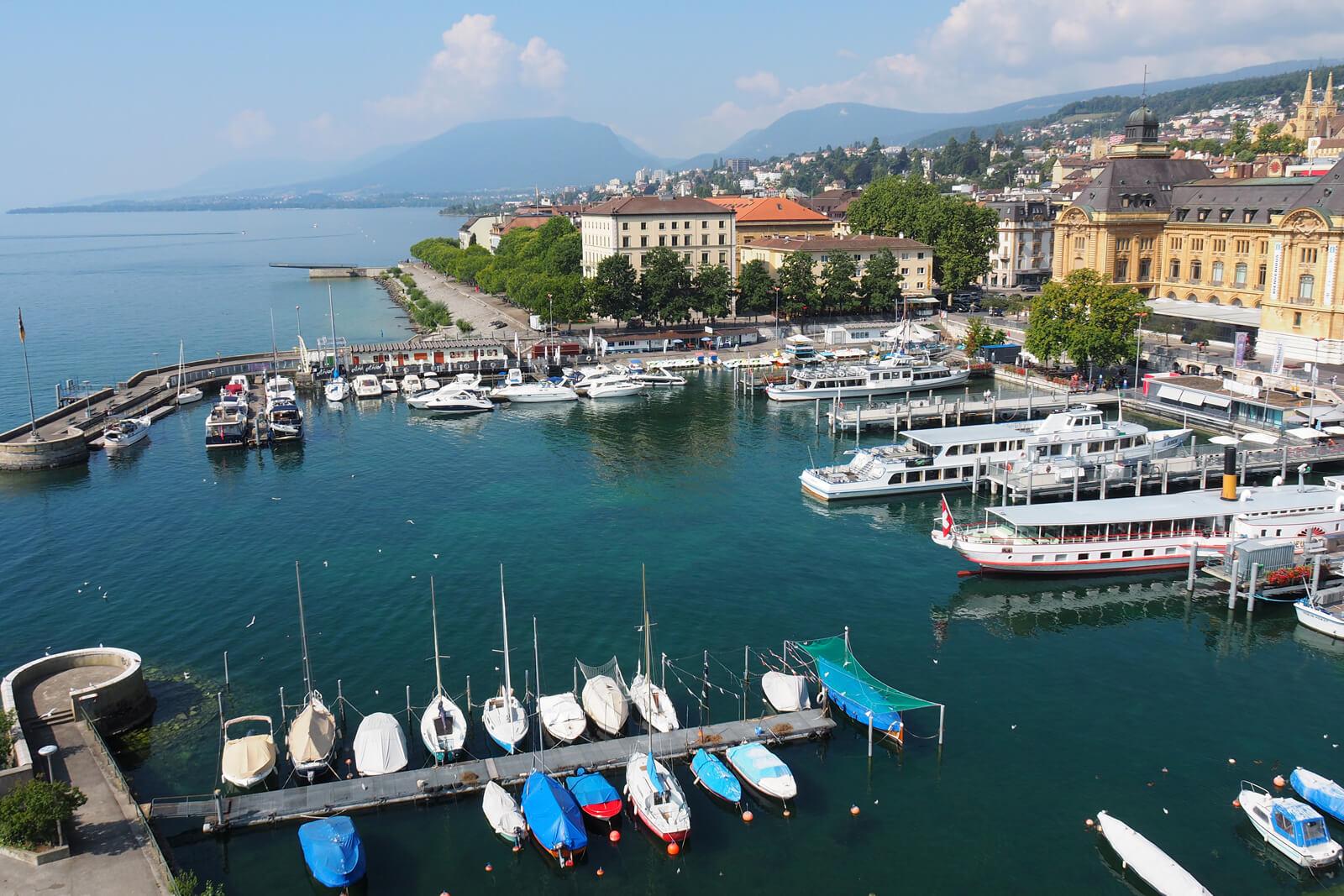 View of the Harbor in Neuchâtel, Switzerland
