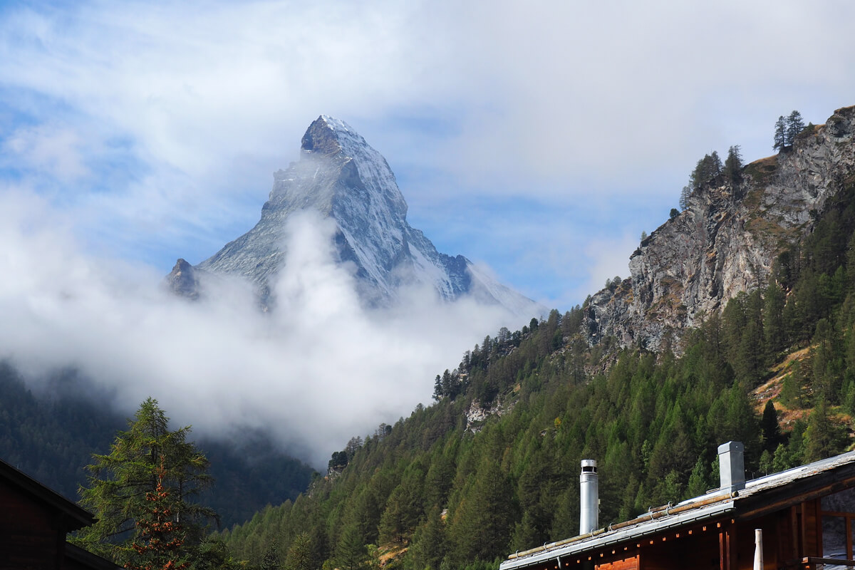 THE OMNIA Design Hotel in Zermatt, Switzerland, and the Matterhorn