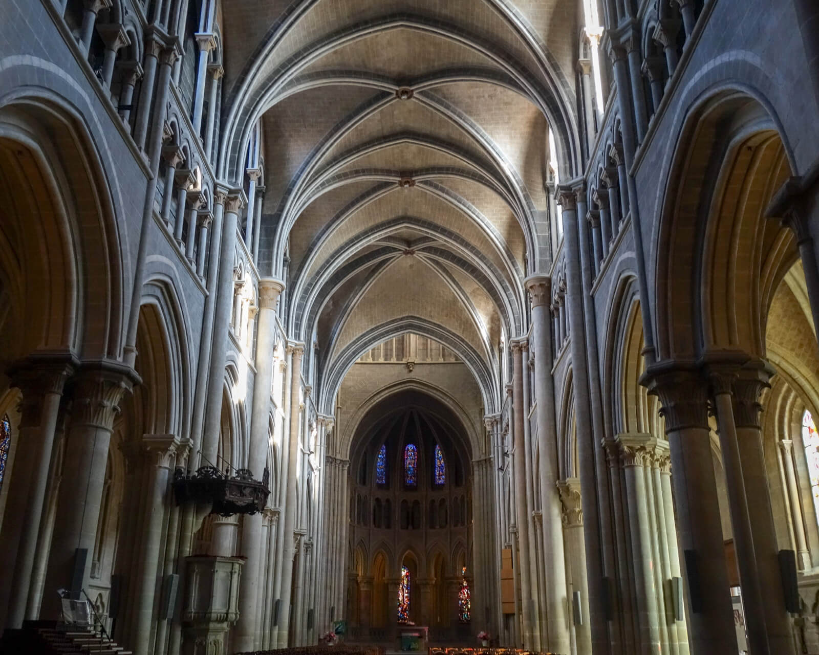 Inside Lausanne Cathedral