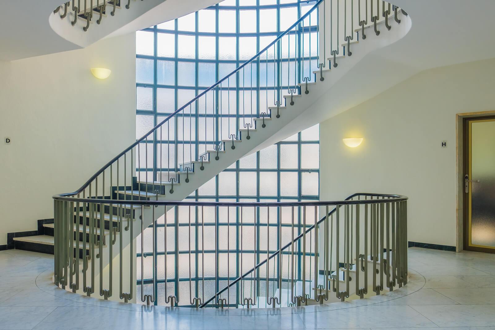 Sideways Staircase Photograph in Zürich, Switzerland