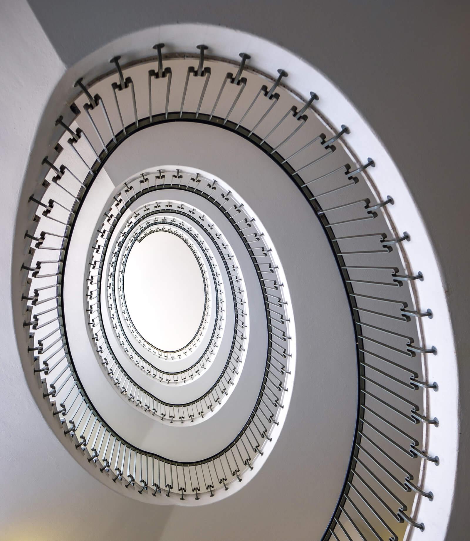 Sihlporte Spiral Staircase in Zürich