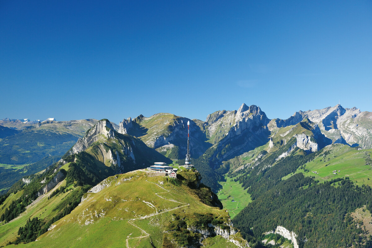 Hoher Kasten – with view over the Appenzell Alps