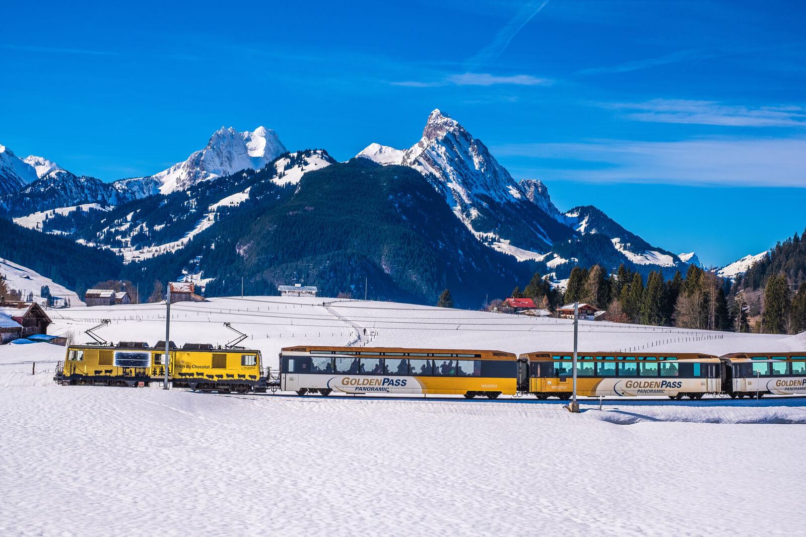 GoldenPass MOB Panoramic Train, Switzerland