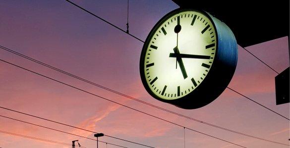 Mondaine Station Clock Sunset