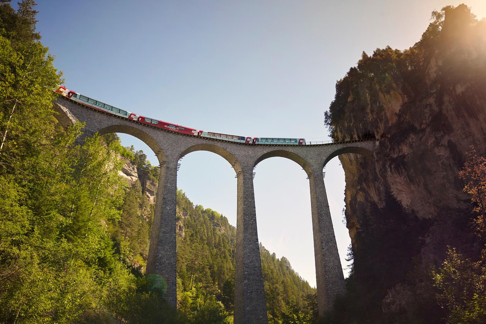 Glacier Express Train Line in Switzerland
