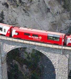 Glacier Express Train Line in Switzerland