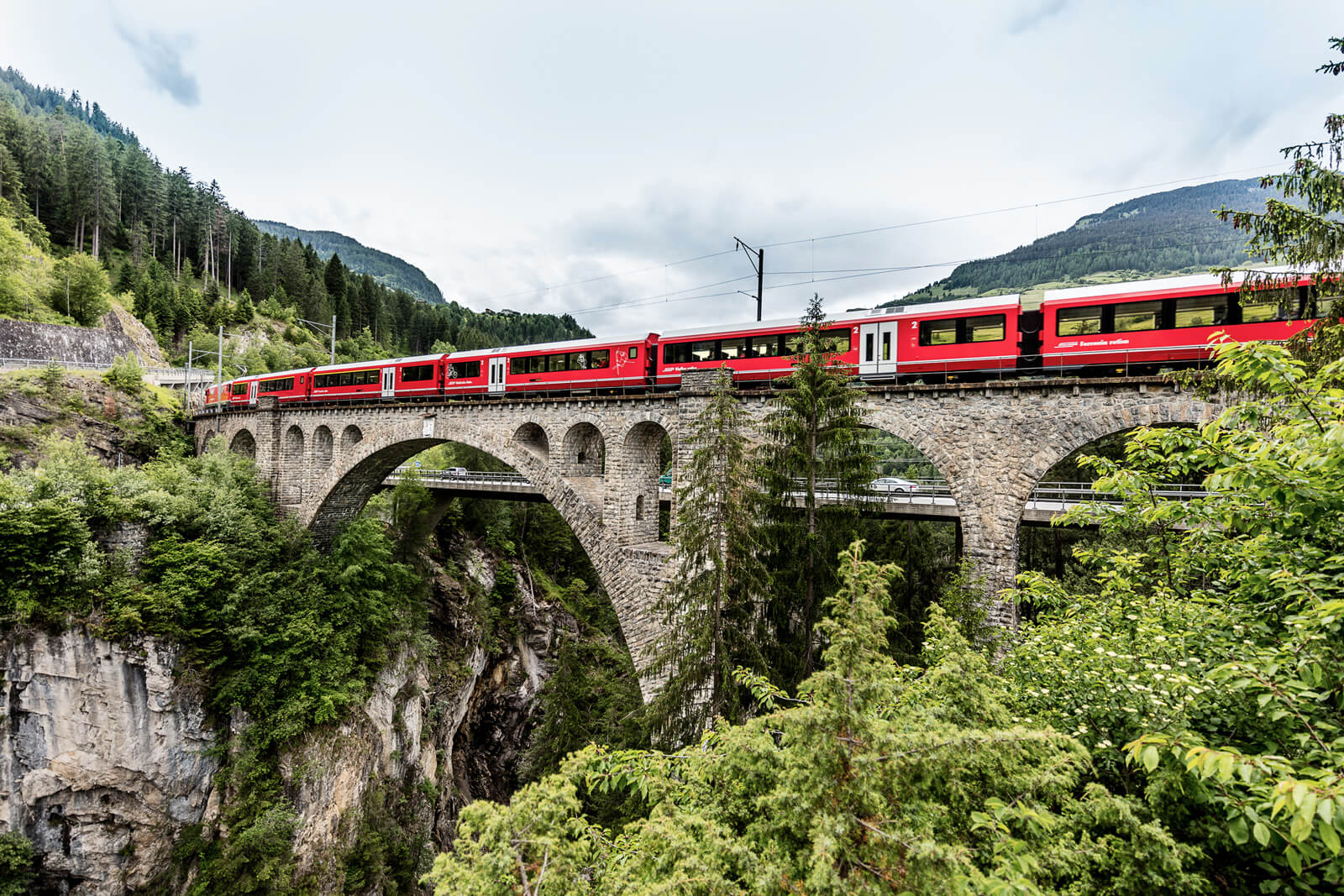 Rhaetian Railway in the Albula / Bernina Landscapes