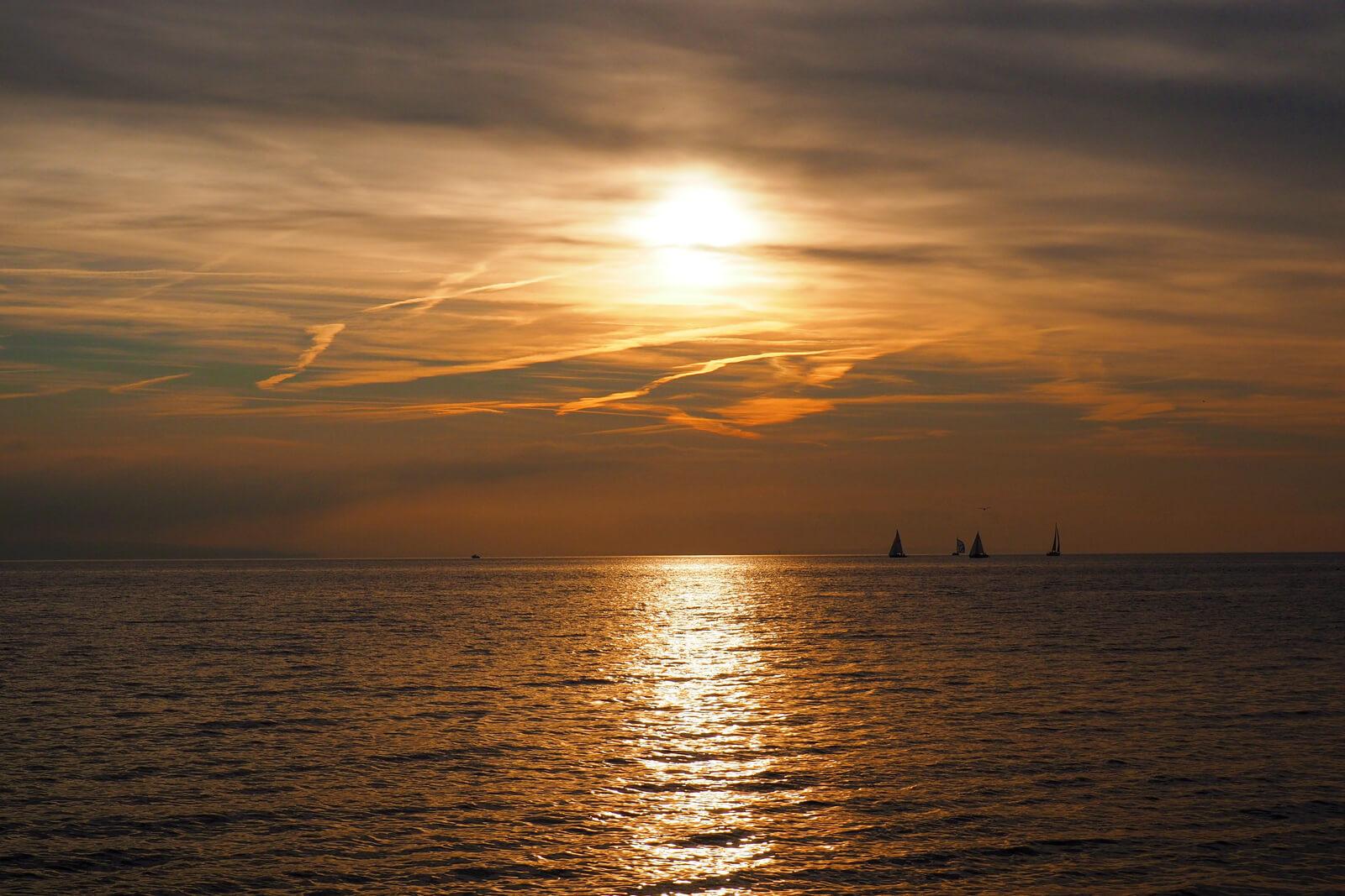 Lake Geneva Sunset from Ouchy, Switzerland