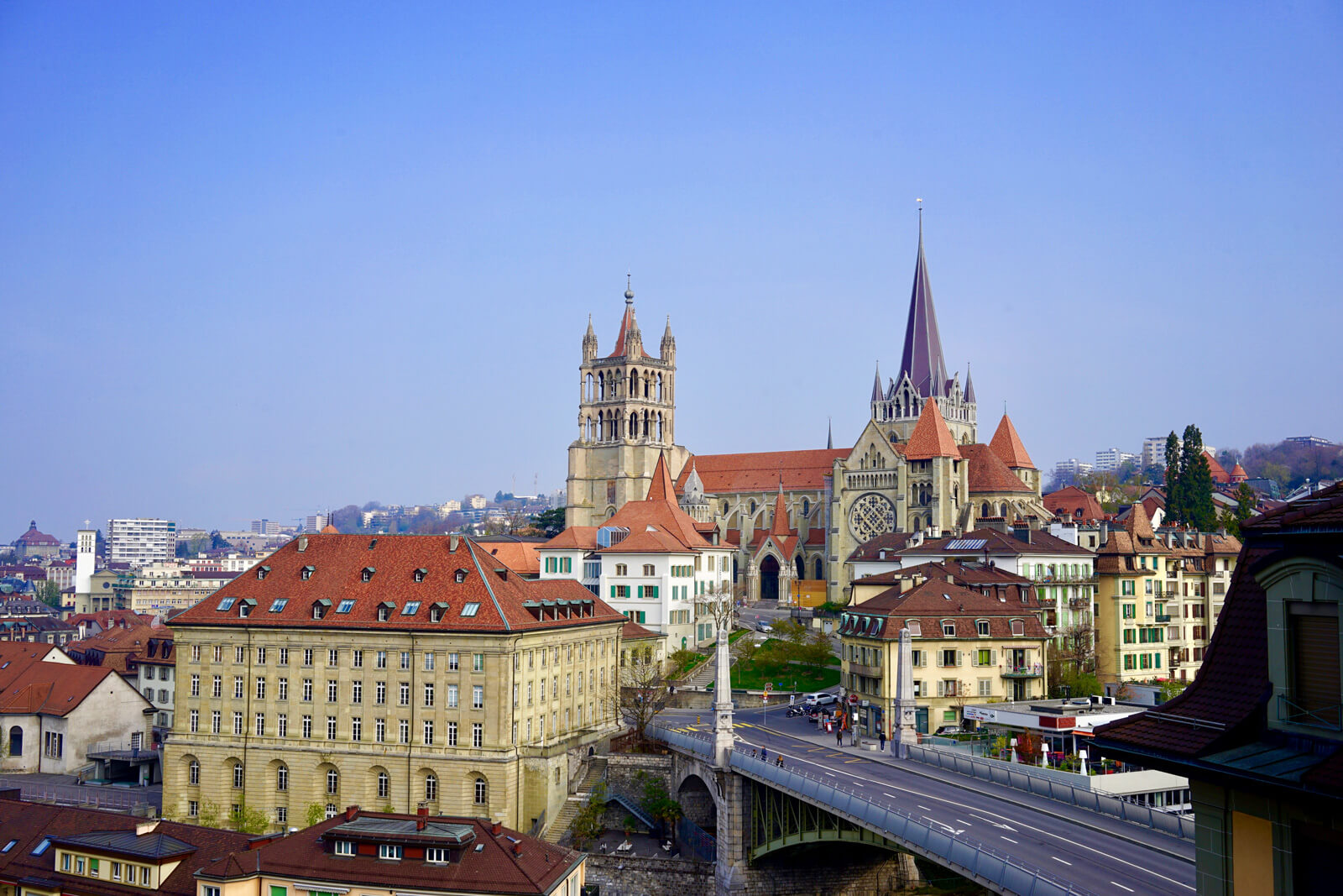 Architecture and History of Lausanne, Switzerland