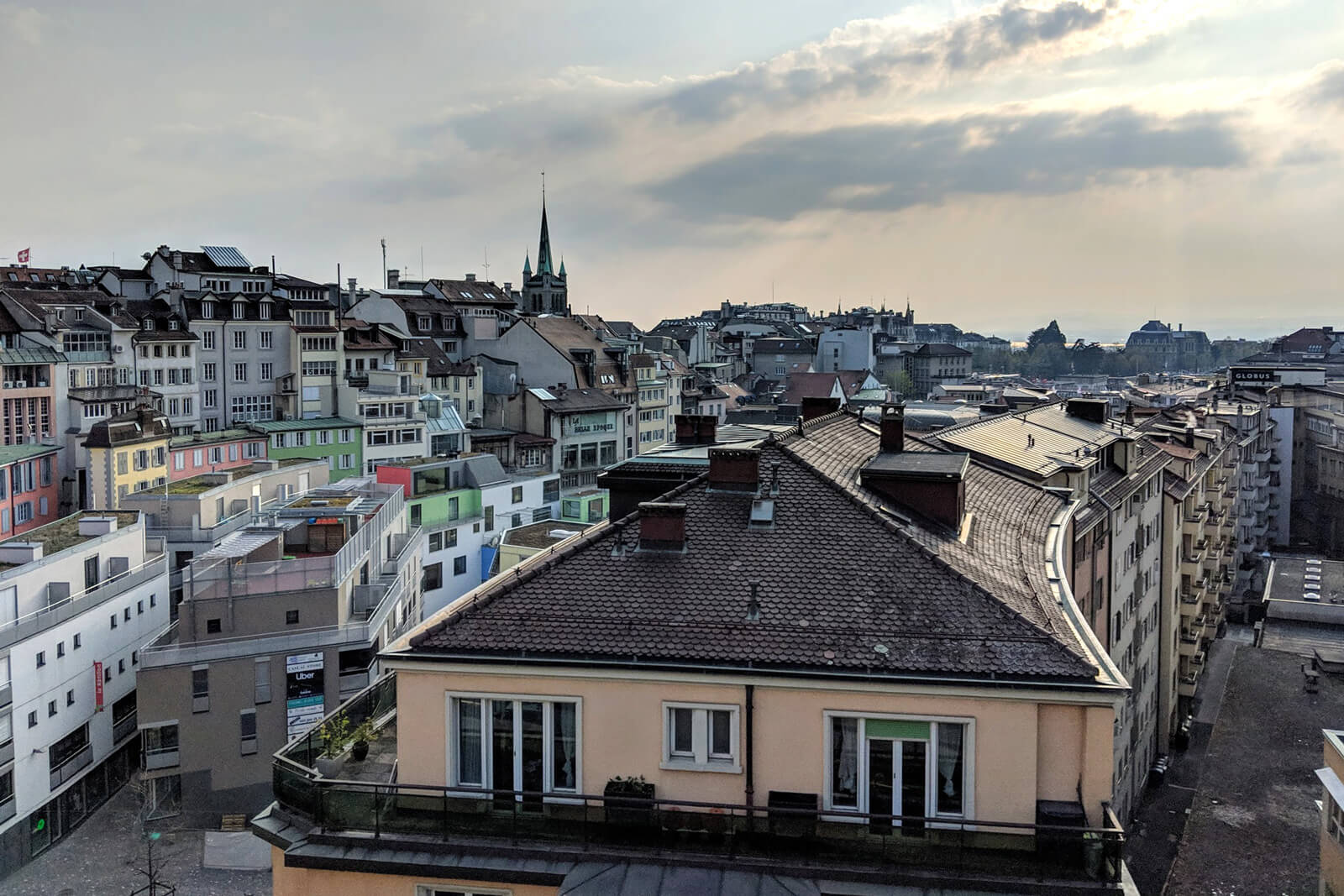 Lausanne View of Town