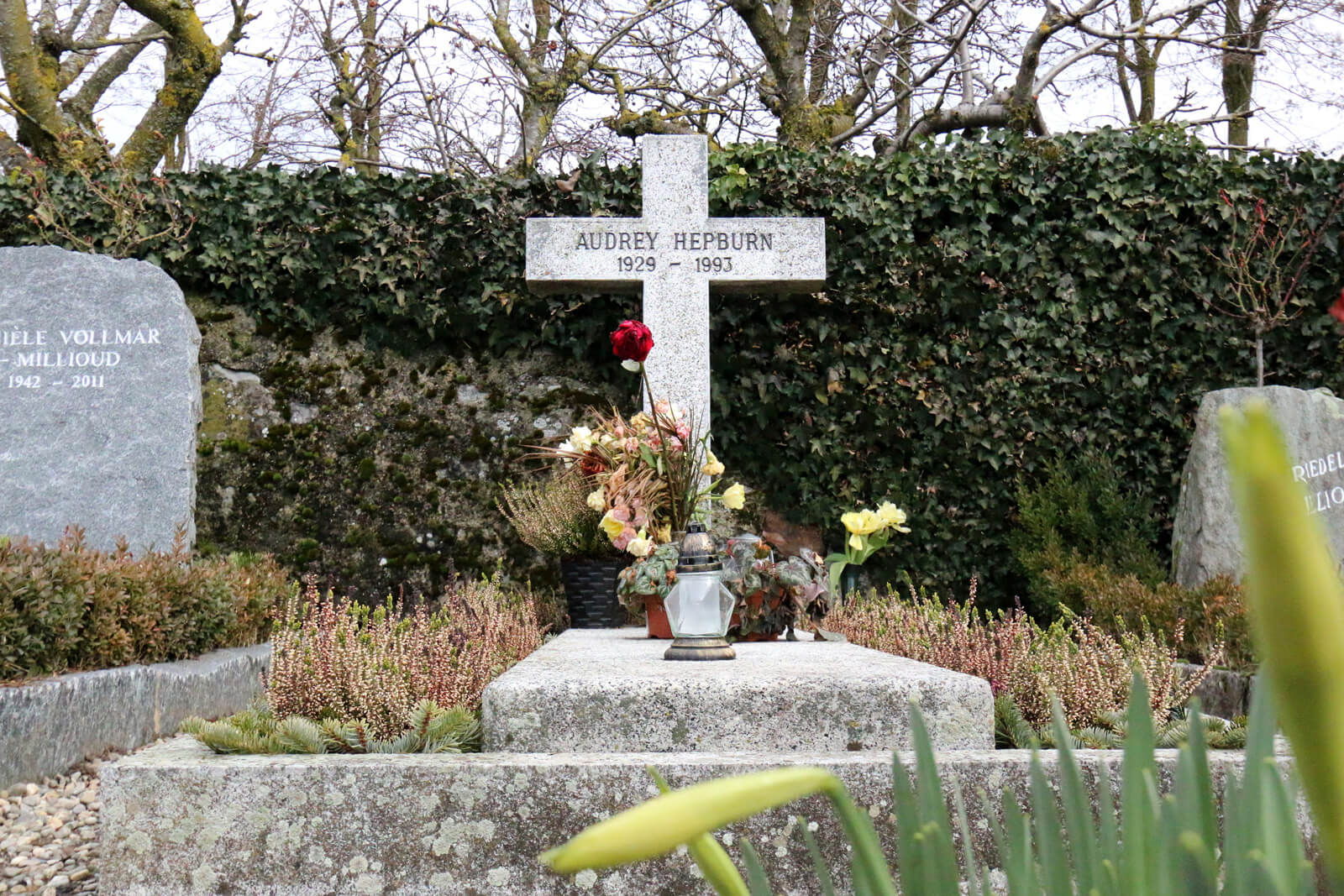 Audrey Hepburn Grave in Tolochenaz, Switzerland