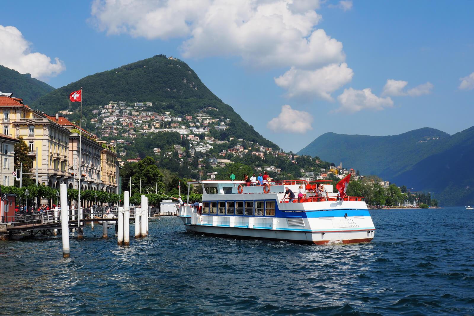 Lugano Lakeside during Summer